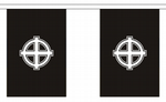 CELTIC CROSS BLACK BUNTING - 9 METRES 30 FLAGS
